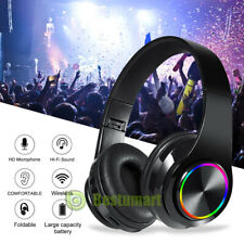 Wireless Pro Gaming Headset 3.5mm for PS4 Xbox One & PC Computer Black Headphone