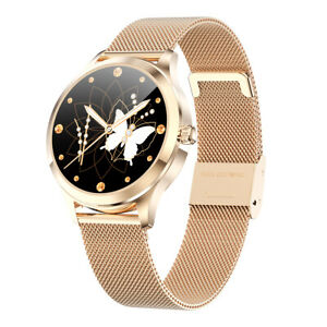 Smartwatch donna LW07 waterproof IP68 bluetooth notifiche per Android e iOS gold