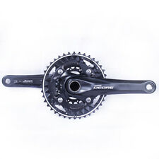 Shimano Deore FC-M612-L MTB Crankset 10-speed 40-30-22 Black 175mm