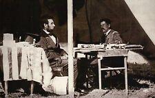 President Abraham Lincoln & McClellan at Antietam, American Civil War - Postcard