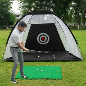 3M Foldable Golf Driving Cage Practice Hitting Net Indoor Outdoor Garden Trainer