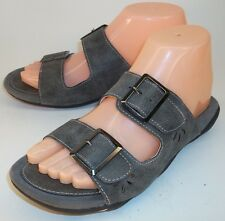 J-41 Adventure On Wos Sandals US 7.5M Gray Vegan Double Strap Casual Slides 5065
