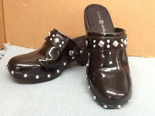 EUC! Size 7M LINDSEY PHILLIPS Switch Flops Black Karin Clogs with 2 Straps
