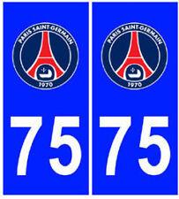 stickers autocollants plaques immatriculation auto Département PSG Paris 75