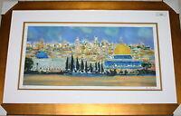 MARCEL MOULY  JERUSALEM     LARGE  LITHOGRAPH  FRAMED