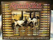 Tin Sign-Remington Sporting Cartiridges-Bird Dog-Bullet