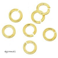 10x 22kt Gold Plated Sterling Silver Open Jump Ring 1.0x 5mm 18ga 18gauge #97762