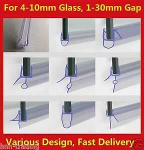 Rubber Plastic Shower Screen Seal Strip For 4-8mm Curved / Flat Glass Bath Door