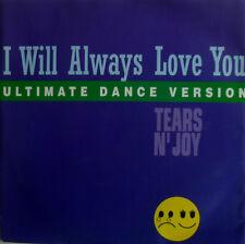 "7"" 1993 CV WHITNEY HOUSTON MINT- !! TEARS N´ JOY : I Will Always Love You"