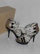 Michael Kors Leonia Vanilla Black Beige Strappy Gladiator Color-block Sandal 9