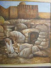 """Israel - Israeli Art - SURREALISM - Oil On Canvas - 30.5"""" x 26"""""""