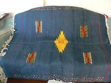 Moroccan handmade wool kilim - flat weave rug