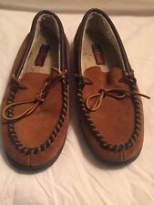 LB EVANS Mens Atlin Saddle Brown Casual Moccasins Loafers Shoes Sz 12/M