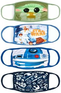Disney Store Reuseable Face Coverings Masks Star Wars 4 Pack Large Extra Large