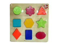 Baby Toddler Wooden Shape Sorter Puzzle Educational Sorting Blocks Colourful Toy