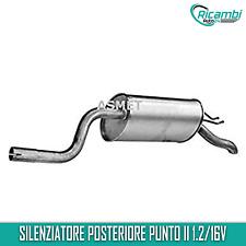 MARMITTA SILENZIATORE POSTERIORE FIAT PUNTO(188) 1.2 16V + Kit Montaggio