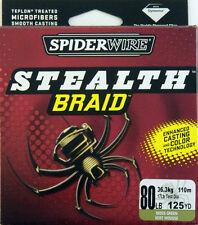 Spiderwire Stealth Green Musky Braid Fishing Line - 125 yd Spool - 80 lb Test