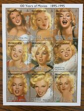 Marilyn Monroe Montserrat Stamps From The International Collectors Society 1995