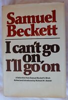 I can't go on, I'll go on Samuel Beckett HC 1st print book in dustjacket - 1976