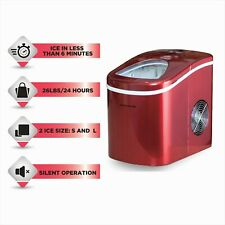 Frigidaire Nugget Ice Maker Pellet Countertop Machine Portable Red 26 lbs Fast