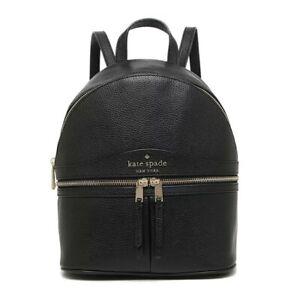 NWT KATE SPADE NEW YORK Karina Medium Backpack Leather Black WKRU7055 FREE SHP