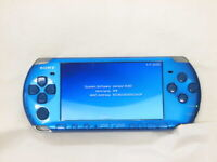 Y2646 Sony PSP 3000 console Vibrant Blue Handheld system Japan English