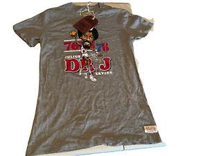 "Mitchell & Ness ""DR .J ""Julius Erving NBA Philadelphia 76ers T-shirt Women's L"
