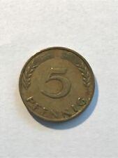 1950 GERMAN 5 PFENNIG COIN
