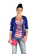 Damen Blazer Kurzjacke Jacke in 10 Farben Gr. S M 36 38