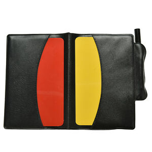 Soccer Referee Wallet Red Card and Yellow Card Wallet Pencil Notebook Uv