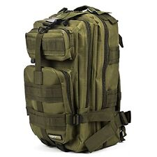 Outdoor Military Rucksacks Tactical Molle Backpack Bag Army Green