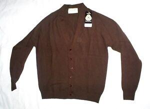 """Ladies   Edinburgh  Wool Brown cardigan Bust 38""""   BNWT"""