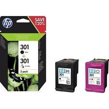 Brand New HP Original 301 Combo 2-Pack Black/Tri-Colour (N9J72AE)