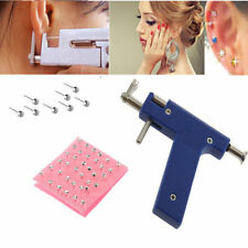 Professional Steel Ear Nose Navel Body Piercing Gun 72pcs Studs Tool Kit Set W#