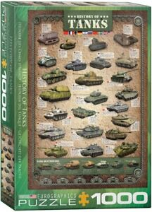 History of Tanks 1000 piece jigsaw puzzle 680mm x 490mm (pz)