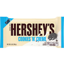 NEW SEALED GIANT HERSHEY'S COOKIES N' CREME 6.5 OZ FREE WORLDWIDE SHIPPING