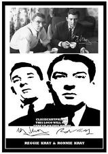 233. THE KRAY TWINS RONNIE & REGGIE KRAY   SIGNED  PHOTOGRAPH ..GREAT GIFT....