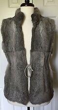 Michael Michael Kors Gray Derby Fur Vest Sz L Sold Out!