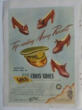 1943 women's Red Cross shoes WWII era military army cap vintage ad