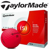 TAYLORMADE PROJECT (S) 3 PIECE GOLF BALLS / 12 BALL DOZEN PACK / MATTE RED