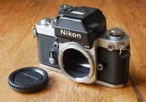 LATE MODEL Nikon F2AS SLR camera body with advanced DP-12 finder Working F2-AS