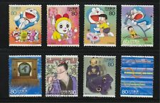 JAPAN 2004 SCIENCE TECHNOLOGY & ANIMATION SERIES ISSUE 6 DORAEMON 8 STAMPS USED