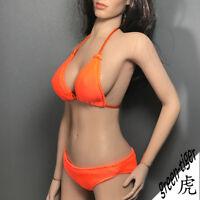 A801Org 1:6 Scale ace Female action figure parts - Orange Bikini top and Bottom