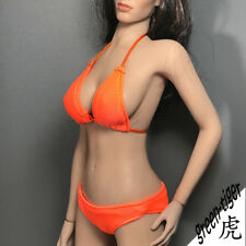 A801Org 1:6 Scale ace Female action figure parts - Orange Bikini top and Bottom