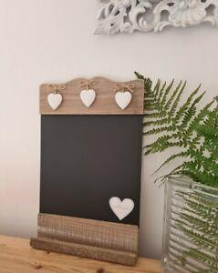 NEW 3 Love Hearts Shabby Chic Farmhouse Sass & Belle Chalkboard Shrimping Violet