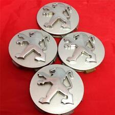 Genuine peugeot alloy wheel centre caps 60mm set (4) 207,407,107,307,Gti, hdi