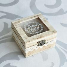 Personalized Rustic Wedding Gift Wedding Ring Pillow Box Rustic Wedding Ring Box