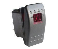 12v/24v Car Boat 5 Pins On-off DPST Rocker Switch Red led lamp Waterproof IP66