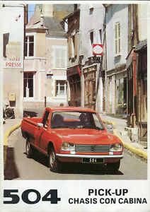 Peugeot 504 Pick-up  / Chassis con cabina 1980 Spanish market sales brochure