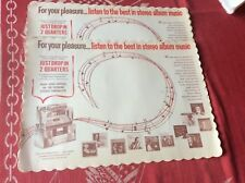SEEBURG JUKEBOX SELECTION Stereo Speakers 5 Placemats Ray Charles Sinatra